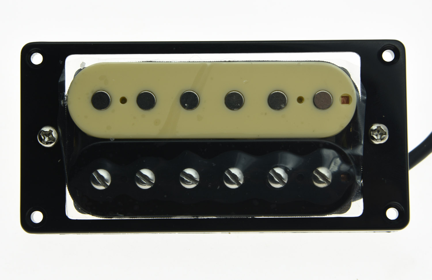 KAISH Alnico V Guitar Humbucker Bridge Pickup 50's Vintage Sound Pickups Zebra Style vintage voice single coil pickups fits for stratocaster ceramic bobbin alnico single coil guitar pickup staggered pole top