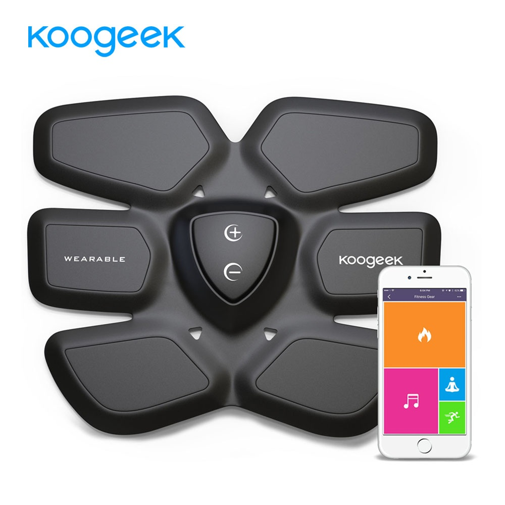 все цены на Koogeek EMS Smart Fitness Gear Abdominal Exerciser Abdomen Fit Training Slimming Abdominal Muscles Intensive Training Massager