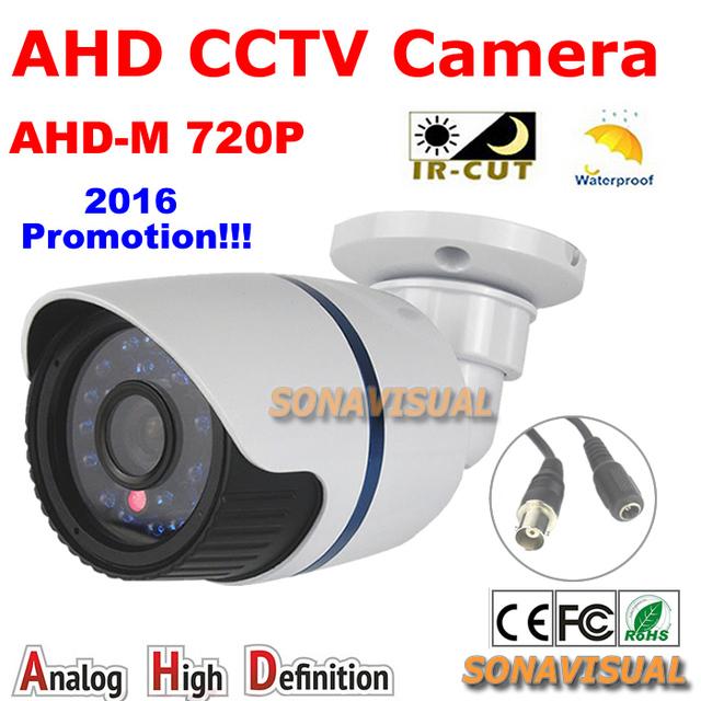 720 P 1.0MP AHD CCTV Cámara Impermeable Al Aire Libre HD Imagen en Color Con IRCUT Filtro de Bala de La Visión Nocturna de Vigilancia de Cámaras de Seguridad