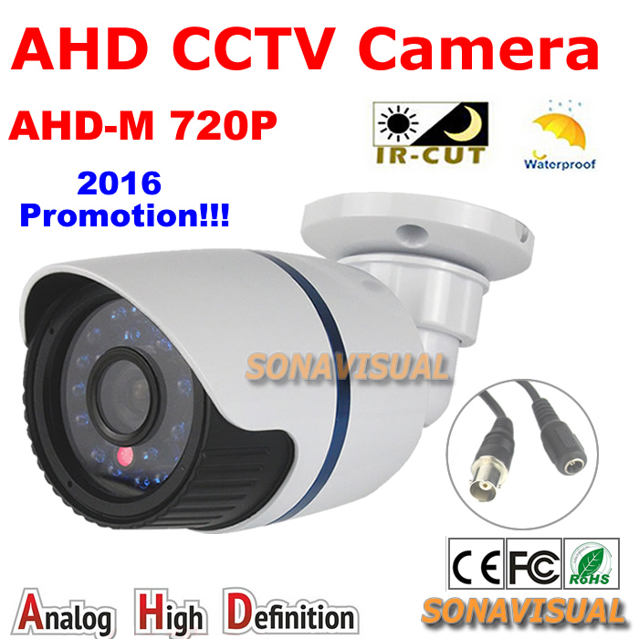 720P 1 0MP AHD CCTV Camera Outdoor Waterproof HD Color Image With IRCUT Filter Night Vision
