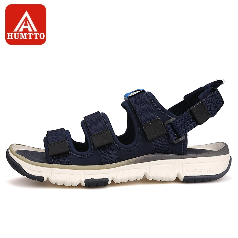 088a6c299 HUMTTO Men s Outdoor Beach Sandals Adjustable Quick-drying Summer Non-slip  Wear-resistant Waterproof Beach Shoes