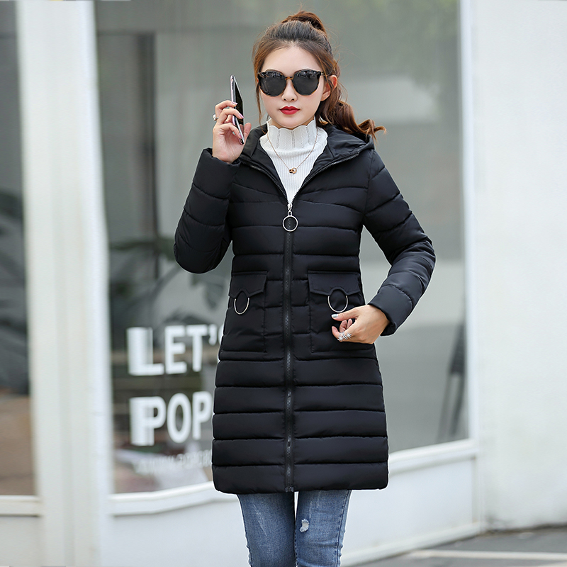 Winter Jacket New Fashion Women Down Jacket Slim Large Size Hooded Jacket Students Women Thick Warm Cotton Outwear #6