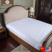 Naturelife White Quilting Mattress Cover Soft Sanding Polyester Fiber Mattress protective cover sheet hotel mattress cover