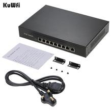 9 Ports 10/ 100Mbps Netzwerk Schalter IEEE 802,3 af POE Schalter Schnelle Netzwerk Power 15,4 W/30W über Ethernet für Kameras/AP