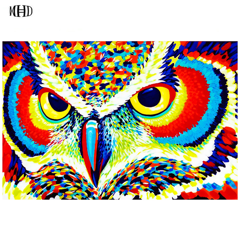 New 5d diy diamond painting Violin Coloured owl 3d full square diamond embroidery crystal diamond mosaic handmade art suite