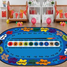 Loartee Cartoon Letter Color Children Crawling Carpet Early Childhood Education Digital Letters Rug