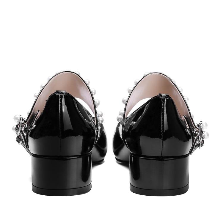 De Bombas negro La Mujer Damas Janes Nueva 2018 Tacones Dedo Del Moda Pie Puntiagudo Mary Cuero Baja Zapatos Beige {zorssar} qTwHItfnw
