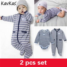 2018 Winter Wear Baby Boy Body Suits Clothing Infant Stripe Rompers Coveralls Long Sleeve O-neck Newborn Baby Jumpsuit Overalls(China)
