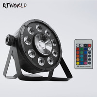 Hot Selling Wireless Remote Control Flat Par 9x10W 30W LED DMX512 Stage Effect Lighting For DJ Equipment Disco Home Party