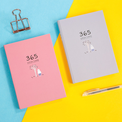 Agenda 2019 Annual Planner Notebook Organizer Cute Monthly Daily Goal Creative 365 Days Weekly Schedule Stationery School Office