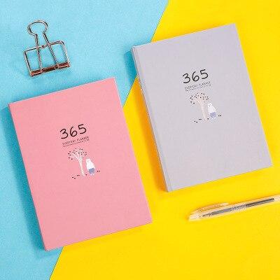 Tema 2019 del Programa Anual cuaderno planificador organizador lindo mensual objetivo diario creativo 365 días horario semanal de papelería de la Oficina de la escuela