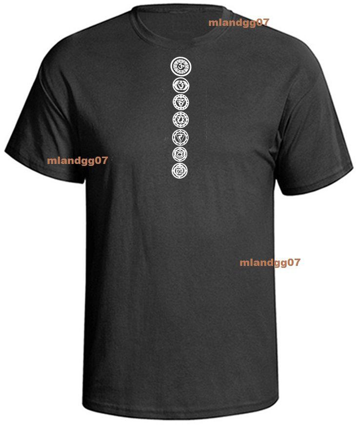✔  Йога 7 чакр футболка футболка индуистского будды РАЗМЕРЫ S-5XLCool повседневная гордость футболка му ①
