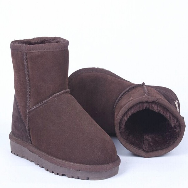 Ladies Boots Plus Size 33-42 Classic Australia Style ugs Women Snow Boots Fashion Cowhide Leather Short Wniter Warm Boots Shoes