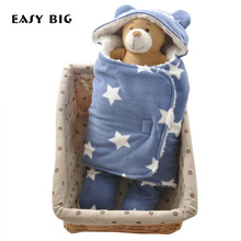 65 * 75CM 10 tipų šiltas storas mielas kūdikių nėrimo kūdikių įvyniojimas vokas antklodė naujagimio miego maišelis slapukis