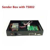 Lyson светодиодный 2017 Специальное предложение светодиодный видео Экран Отправитель коробка с LINSN TS802 отправки карты и Meanwell Питание включены