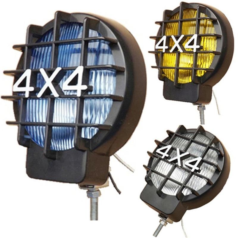 2Pcs 4*4 55W Offroad Fog Light Lamp Halogen H3 Bulb 4x4 Spotlights Lights Work Driving Head Lights For Car Off Road SUV ATV J10