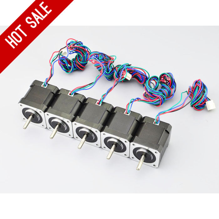5PCS 3D Printer Motor 45Ncm 64oz in 1 68A Nema 17 Stepper Motor Bipolar 4 wire aliexpress com buy 5pcs 3d printer motor 45ncm 64oz in 1 68a  at readyjetset.co