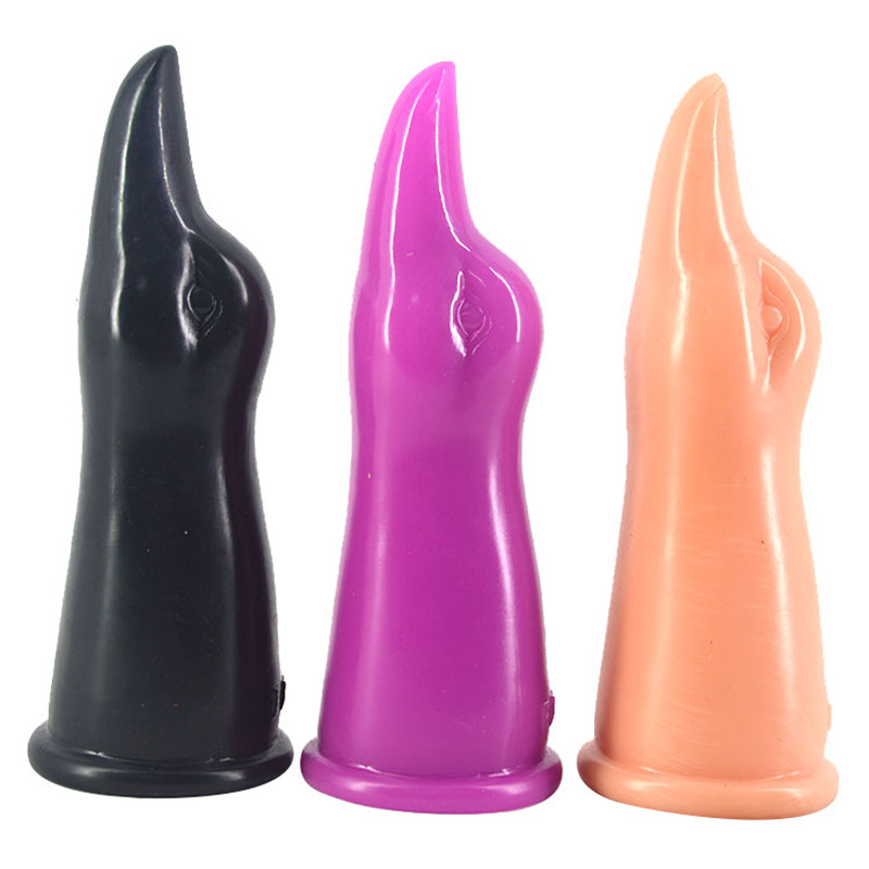 Tounge shaped dildo