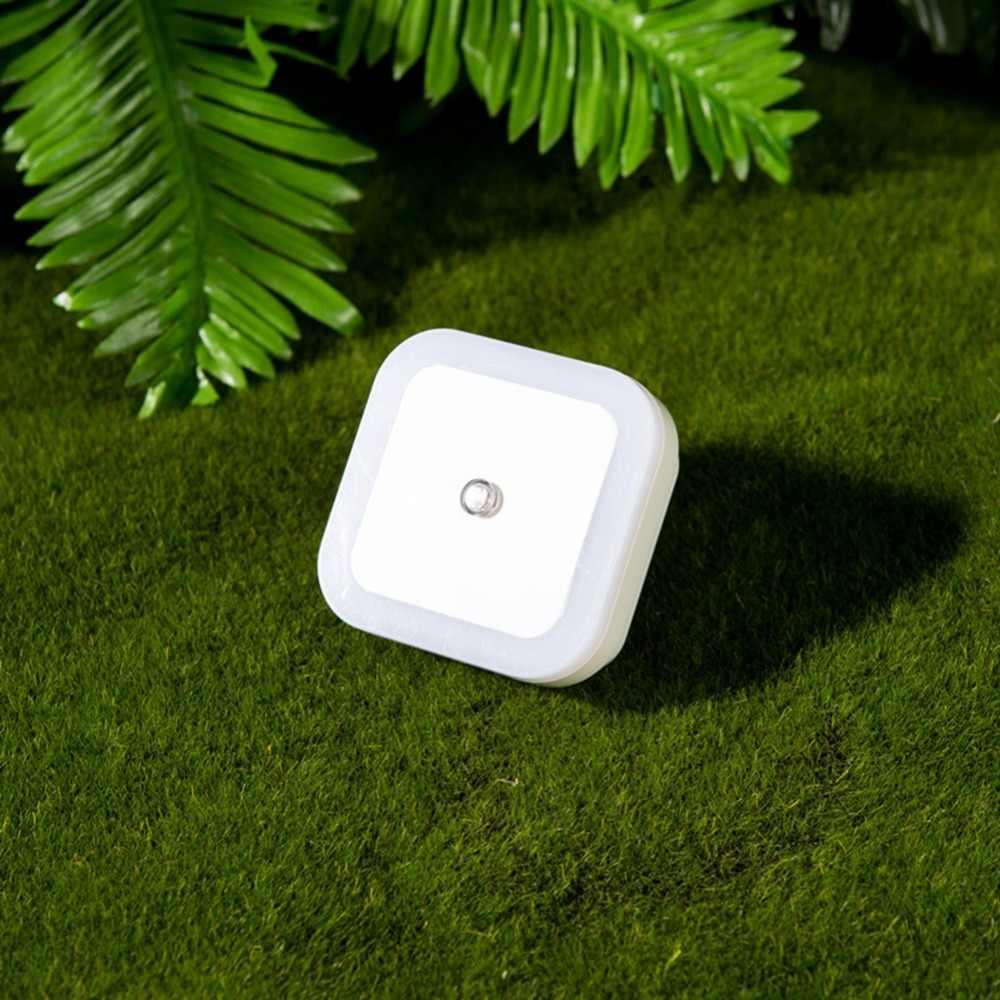 Lumiparty Мини светодиодный ночник автоматический датчик управления лампа в детскую спальню квадратный белый желтый AC110-220V светодиодный ночник для ребенка