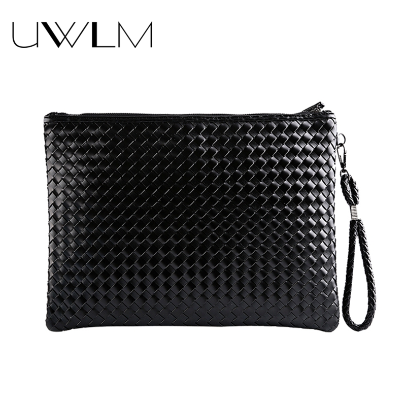Knitted Clutches Bags Hand bags Women Famous Brands Soft Leather Phone Large Capcity Purses And Handbags Black Femininas Bolsas