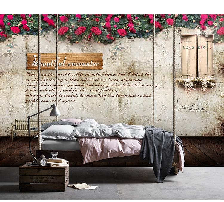 Large Print 5d Papel Murals 3d Flower Wallpaper Murals 3D Photo Mural Wall paper for Sofa Background 3d Wall Murlas