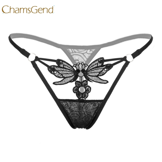 6ba487764bd8 Chamsgend Butterfly Lace G-String Women Sexy Underwear Intimate Low-Wasit  Thongs G String Panty 170711
