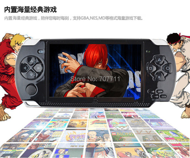 New 2014 4GB 4.3 Inch Large Screen MP5 Game Player+MP4 Player+MP3 Player Biulding 3000 Games DHl shipping charge