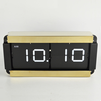 1 set 5 Colors 14 Inch Luxury Gold Color Large Flip Wall Clock For Living Room Sofa Wall Decorative Clock