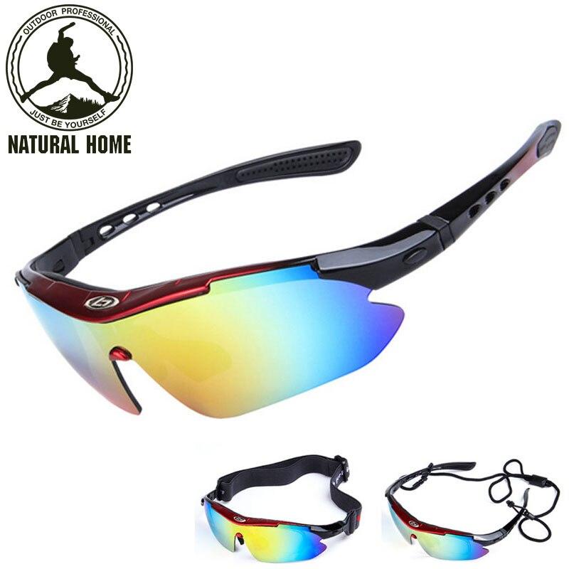 Prix pour NaturalHome Vélo Lunettes Hommes Femmes Sport En Plein Air lunettes de Soleil 5 lentille Occhiali Gafas Ciclismo Bicicleta Oculos