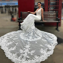 XGGandXRR Mermaid Wedding Dress Backless Royal Train