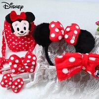 Disney 5Pcs Set Baby Minnie Head Bands Newborn Tiara Children S Hair Bands Crown Hair Accessories