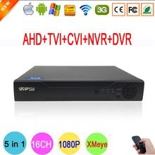 XMeye Hi3521A 16 Canaux 16CH 1080N 5 dans 1 Coaxial Hybride Wifi TVi CVI IP NVR AHD DVR Pour 1080 P Caméra de Surveillance FreeShipping