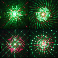 Thrisdar 20 Pattern RG Christmas Laser Projector Light Outdoor Red Green Christmas Landscape Spotlight Bar DJ