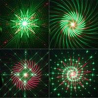 Thrisdar 20 Pattern RG Christmas Laser Projector Light Outdoor Red Green Christmas Landscape Spotlight Bar DJ