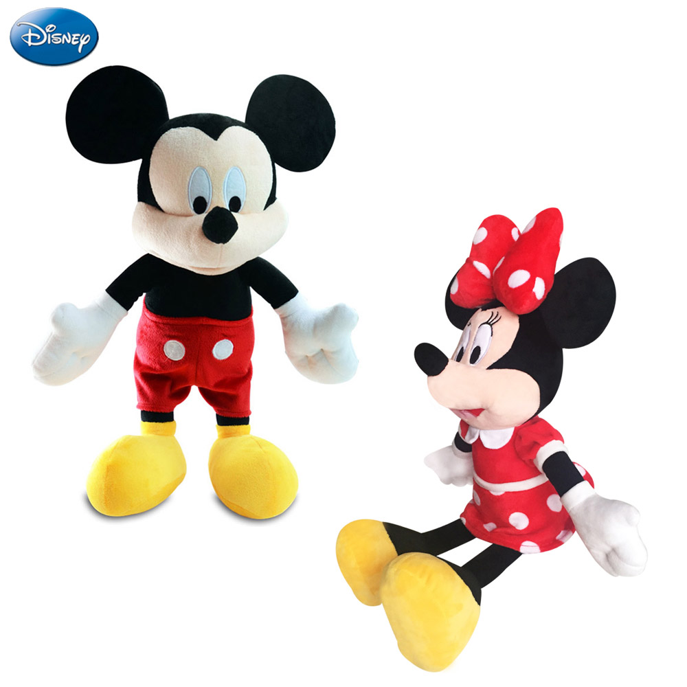 Disney Brand Mickey Mouse Minnie Baby Big Plush Stuffed Toys Clothes Costume Set Cute Doll Kids Toys Party Supplies 40-45cm