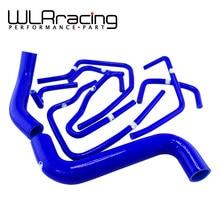 WLRING TIENDA-Azul de Silicona Radiador Kit de Manguera para Subaru Impreza WRX STI GDA GDB 2.0 2000-2009 9 UNID WLR-LX-1803C-BL