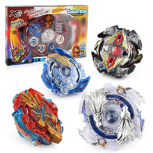 4pcs/set Spin Top Stadium Arena 168-1 Tops Metal 4D Fusion Set With Launcher Handle Spinning Toys Gift #E