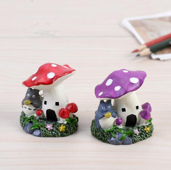 (Mini Order $5)1pcs Resin Mushroom House Fairy Garden Terrarium Home  Aquarium DIY Christmas Decoration Landscape
