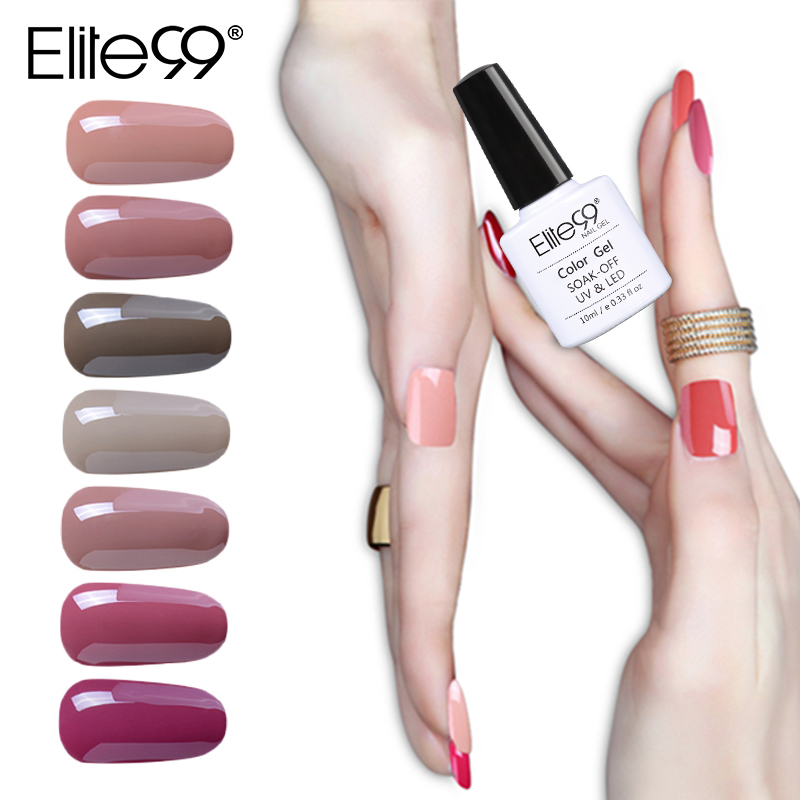 Us 1 06 30 Off Elite99 10ml Uv Gel Nail Polish Nude Wine Red Color Series Uv Gel Polish Soak Off Led Lamp Nail Art Design Nail Gel Lacquer In Nail