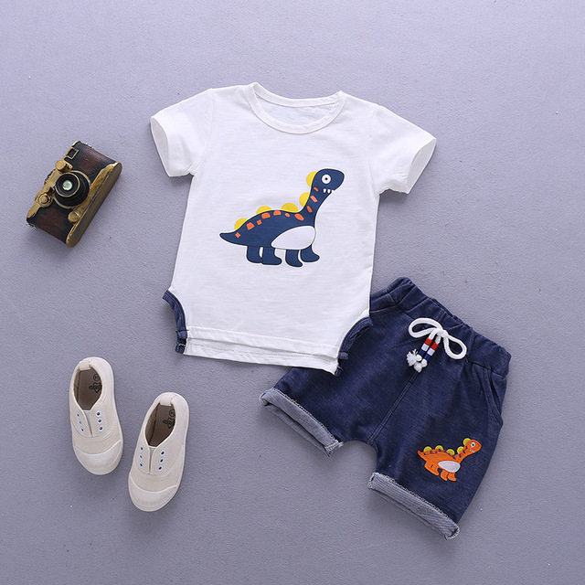 Newborn Orange And Blue Clothing Set For Baby Boy 5