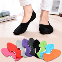 2 pairs/lot 2018 New Womens Socks Solid Color Invisible Short Sock Slippers Summer Thin non-slip Boat Women