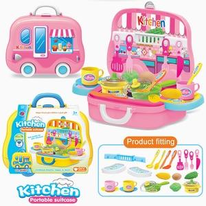 Image 5 - Kuchnia udawaj zagraj w zestaw zabawki w kształcie jedzenia miniaturowe edukacyjne do odgrywania ról dom gra Puzzle Cocina Juguete prezent dla dziewczyny Kid dzieci