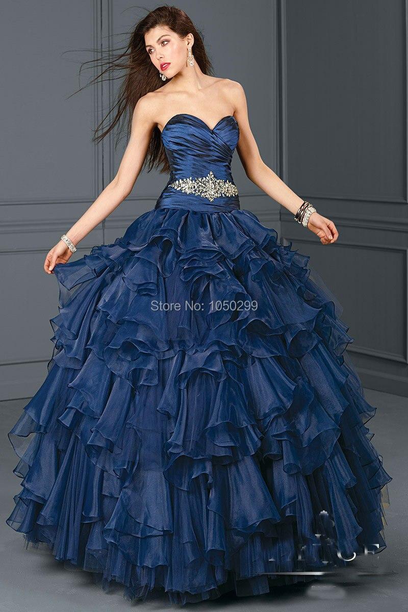 Vestido De Debutante Sweetheart Neckline Top Ruched Ruffled ...