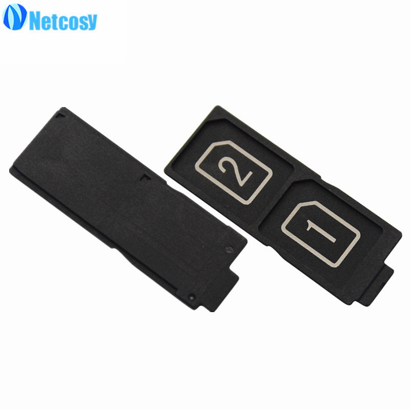 Netcosy Dual SIM Card Tray Slot Holder Adapter for Sony Xperia Z5 Replacement Parts Repair High Quality Phones Accessories