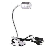 3W 5W LED 데스크 램프 EU 플러그 조정 가능한 클립 빛에 눈 케어 클램프 램프 읽기 연구 침대 AC85-265V 대 한 스위치