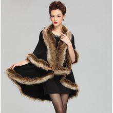 #2905 2016 Fashion Knitting shawl fur Casaco feminino inverno Pashimina Winter-poncho Luxury brand scarf Inverno feminino