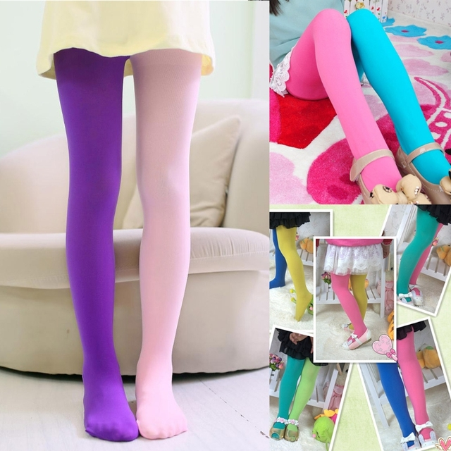 700121de5cf Fashion Design Girls Leggings Double Candy Color Warm Stockings Kids  Pantyhose Underpants  330