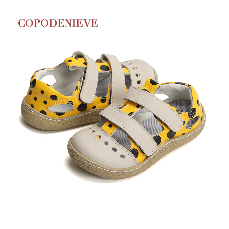 COPODENIEVE 2019 Summer Genuine Leather Children Sandals For Girls Flower Girls Princess Shoes Breathable Baby Girls Sandals