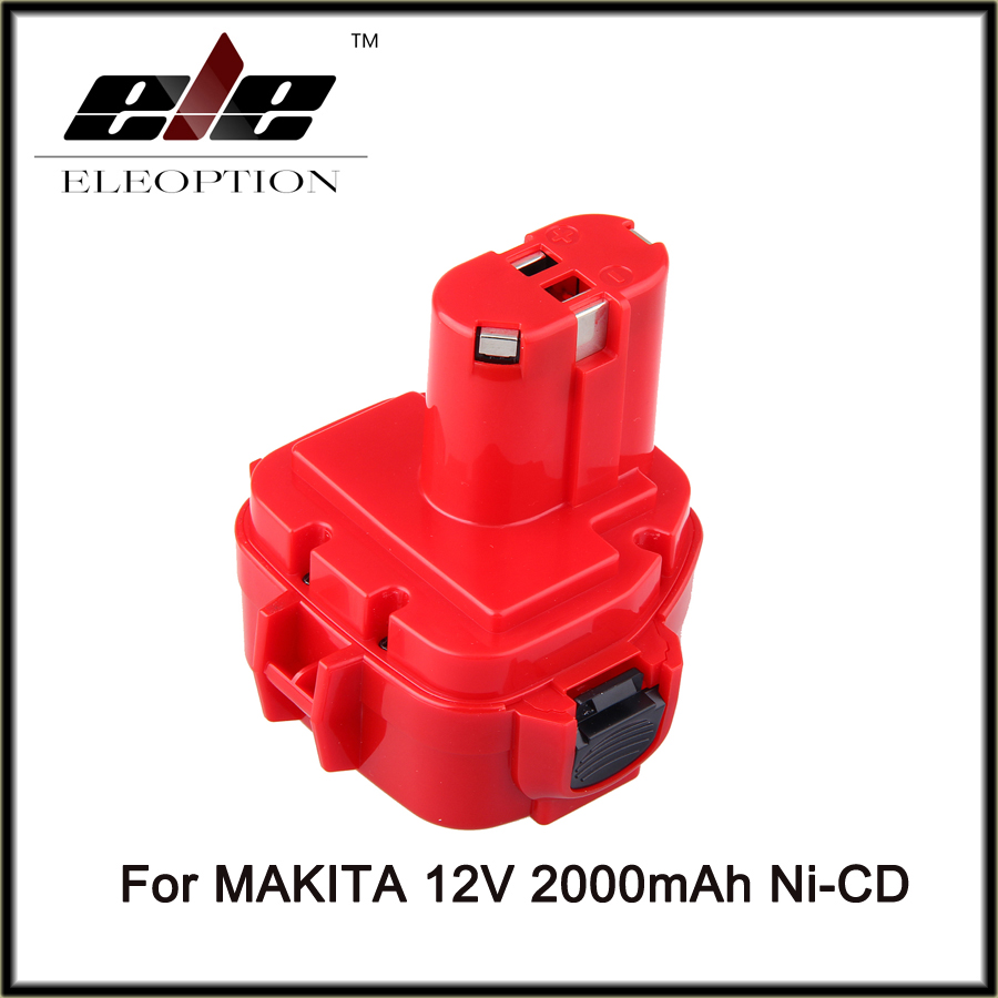 ELEOPTION Rechargeable Battery for Makita 12V PA12 2.0Ah Ni-CD Replacement Power Tool Battery for Makita 1220 1222 1233S 1233SB