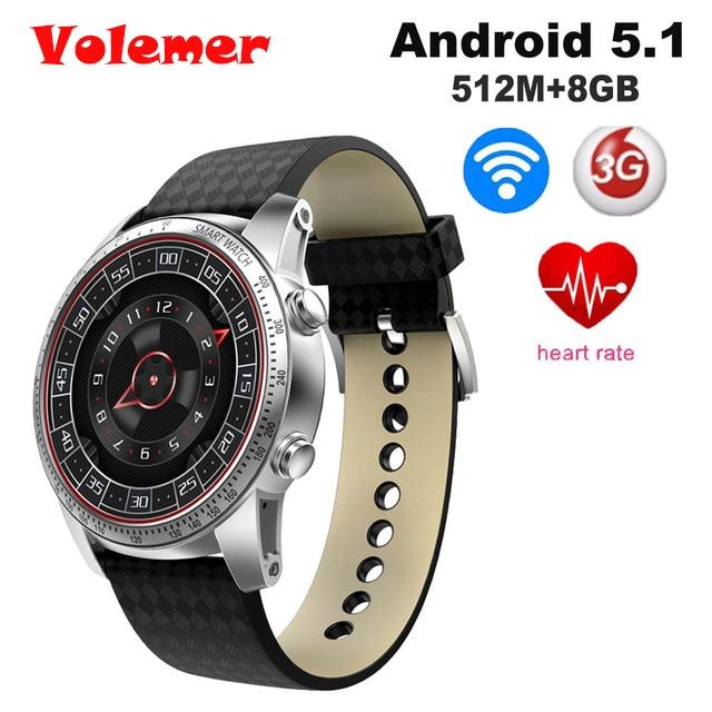 Volemer KW99 1.39 inch 400*400Android 5.1 MTK6580 RAM 512MB ROM 8GB Support GPS WiFi 3G SIM Card Heartrate Smartwatch PK K88H diggro di05 smart watch wifi gps mtk6580 bluetooth 4 0 512mb 8gb support 3g nano sim card 1 39inch amoled smart watch pk k88h